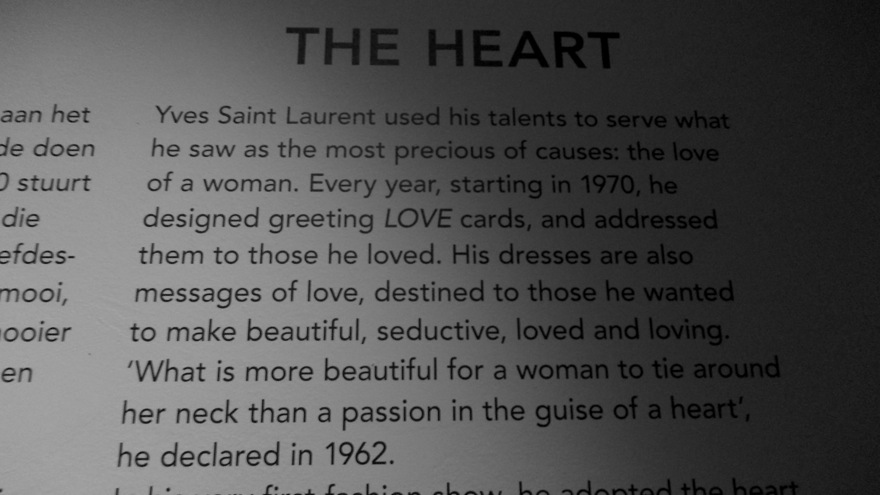 ysmf.ysl exhibition.TheHeart