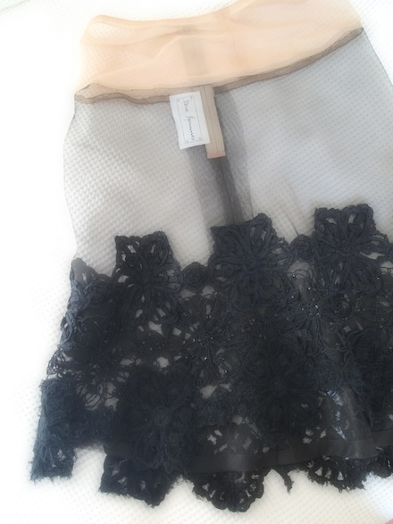 ysmf.deuxhommes.black.lace.skirt.
