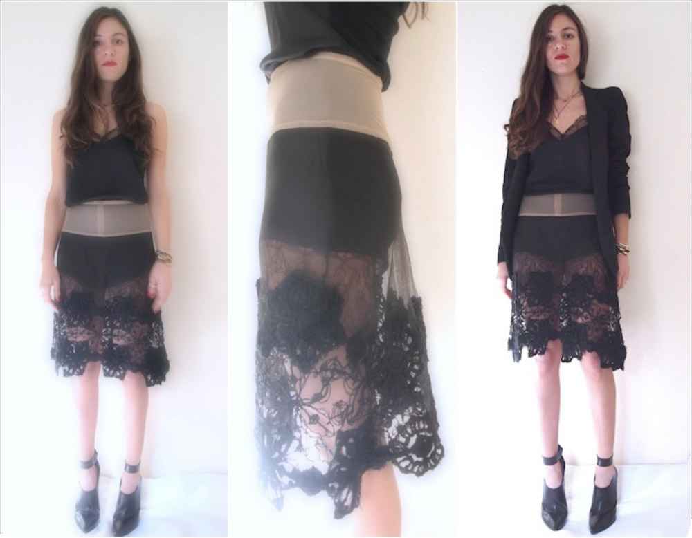 ysmf.deuxhommes.lace.skirt