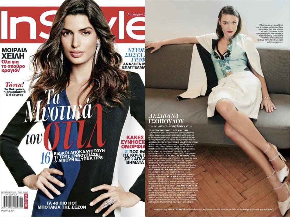 http://youstrikemyfancy.com/wordpress/2013/10/web-fashion-insiders/In Style magazine, November 2013
