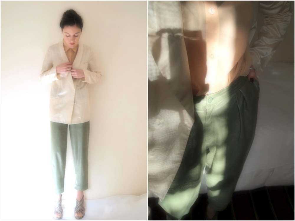 ysmf.vsociety.green.leather.pants