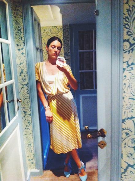 ysmf.malene.birger.yellow.stripes.dress
