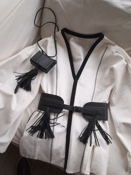 ysnf.zeus.dione.cotton.handmade.blouse.leather.belt