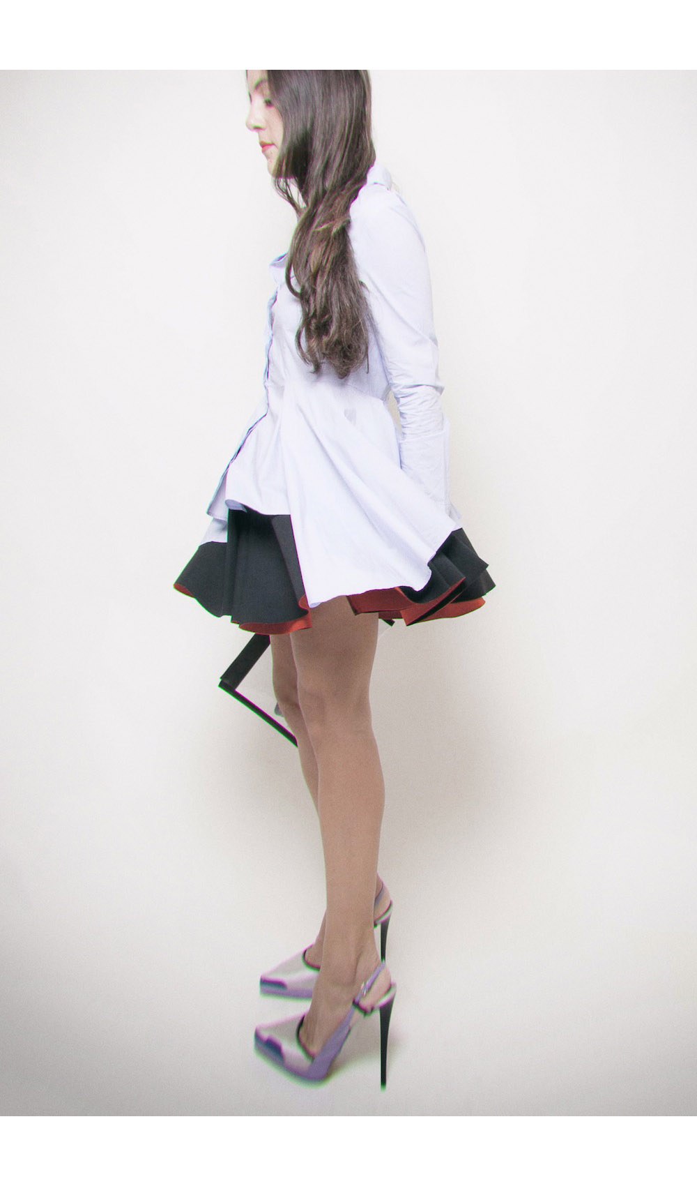 ysmf.hm.peplum.shirt.black.red.scuba.skirt