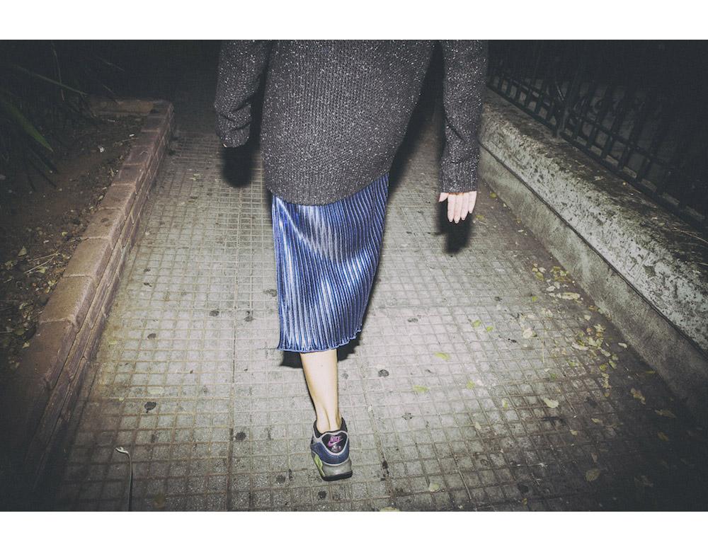 ysmf.oversized.jumper.pleated.skirt