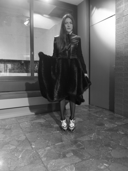 ysmf.stelios.koudounaris.faux.fur.double.coat