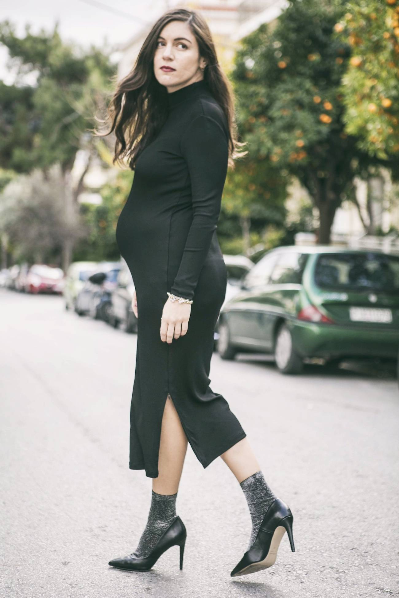 ysmf.hm.stretch.midi.dress.black.2