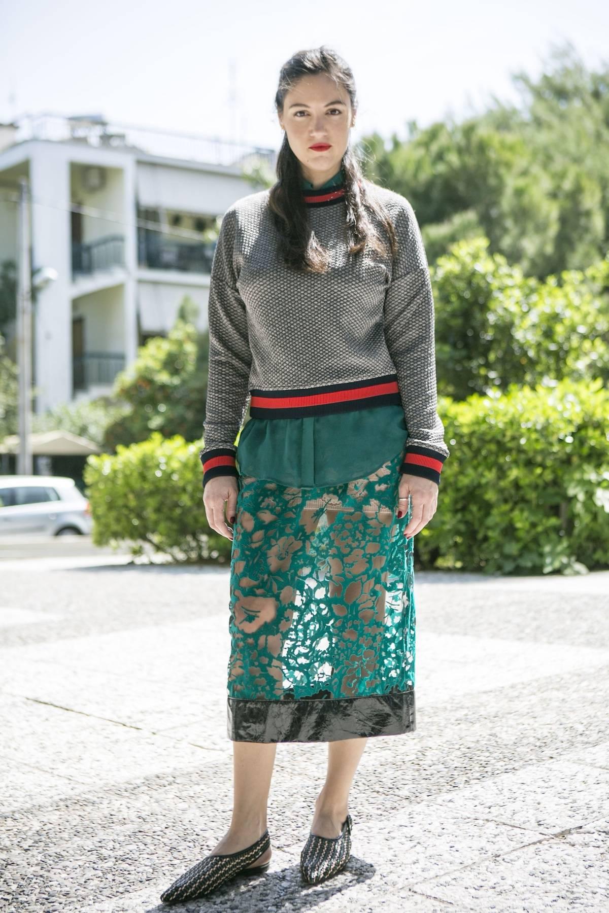 ysmf.velvet.lace.skirt