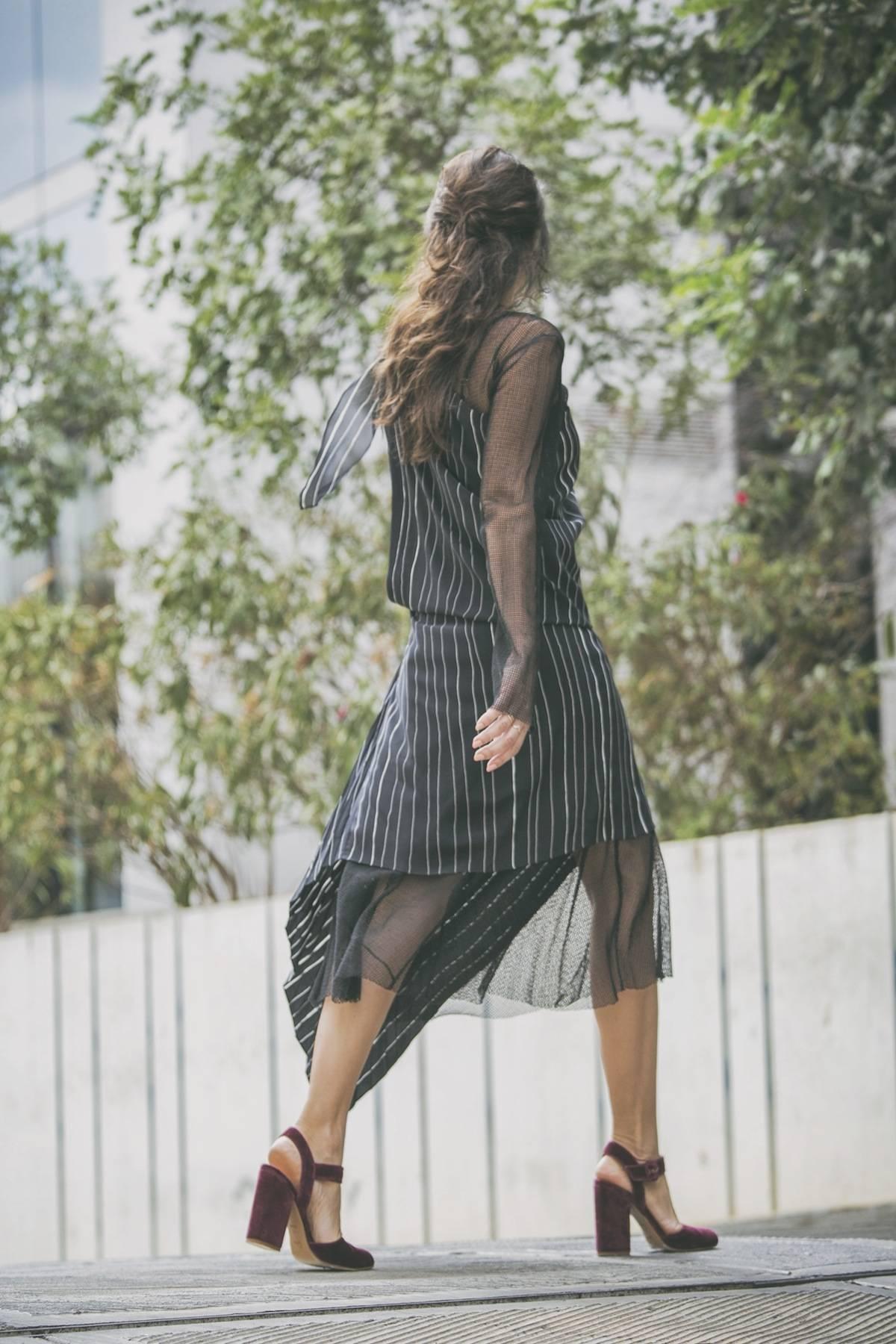ysmf.deuxhommes.striped.asymetric.dress
