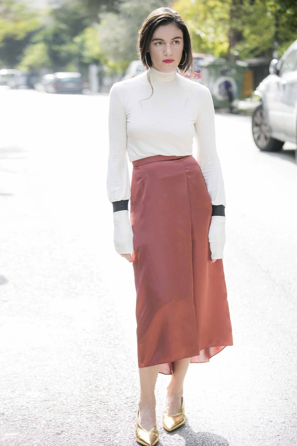 ysmf.turtleneck.satin.skirt.by.eleftheriades.yesymphony