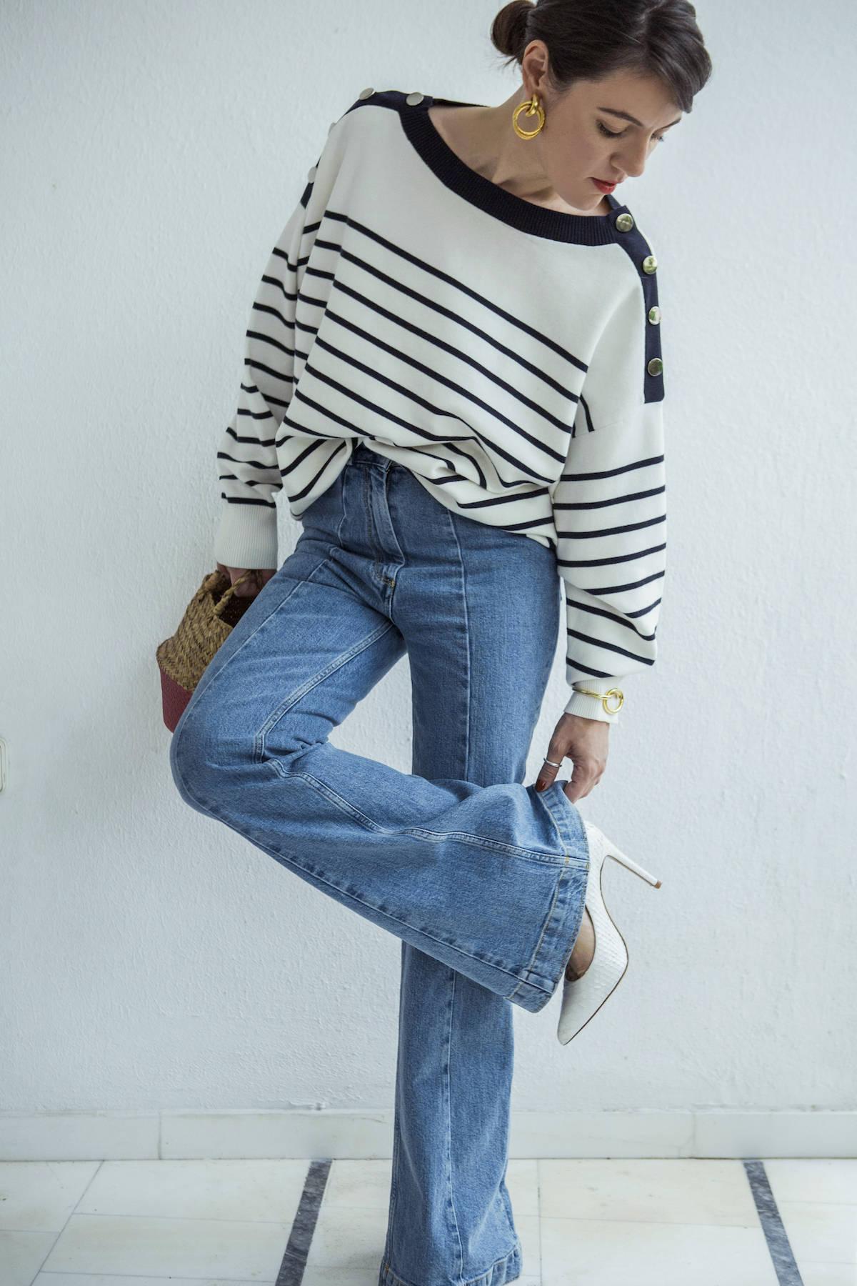 ysmf.hm.mariniere.high.eaisted.jeans