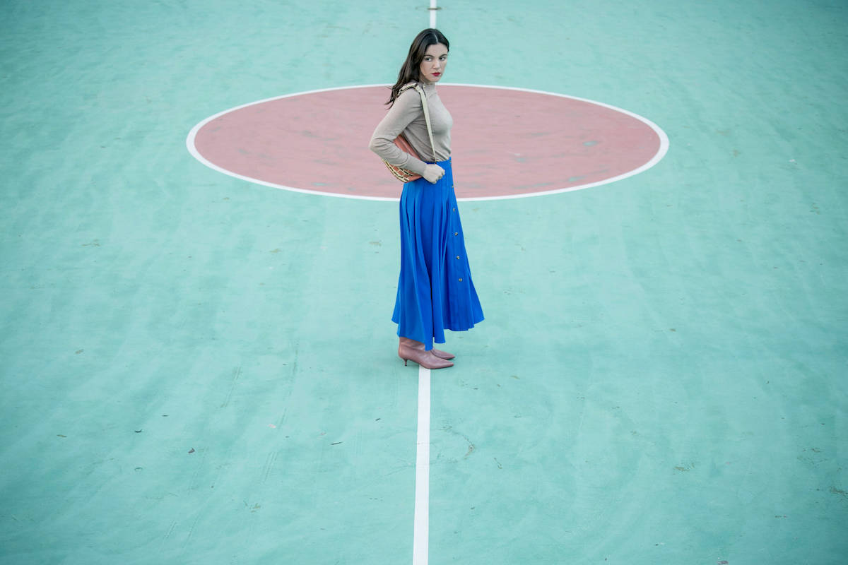 ysmf.hm.blue.full.skirt.knit.top.2019
